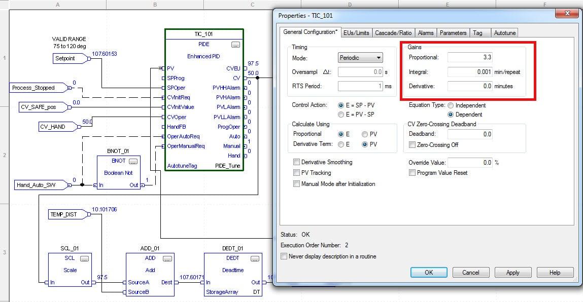 ControlLogix PID Controller Gain Settings